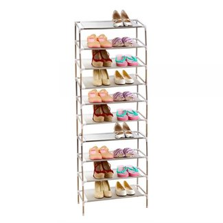 10 Tier 30 Pairs Shoe Storage Rack Stand Organiser Cabinet