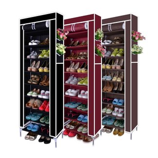 10 Tier Shoes Cabinet Storage Organizer Shoe Rack Portable ...