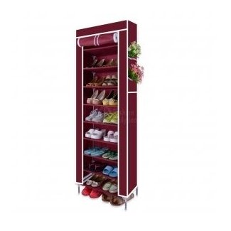 10 Tier Shoes Cabinet Storage Organizer Shoe Rack Wardrobe ...