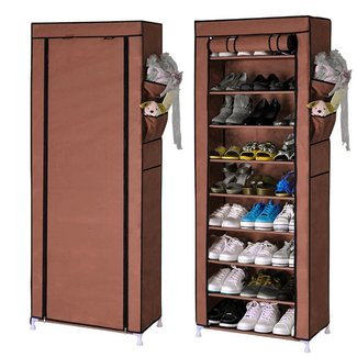10 Tiers Shoe Rack with Dustproof Cover