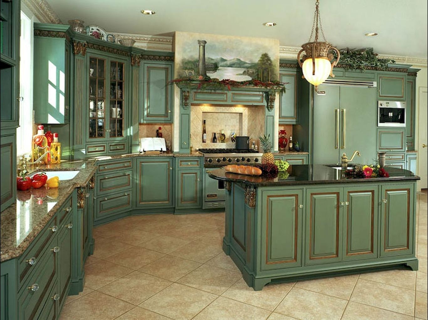 1000+ Ideas About Country Kitchen Cabinets On Pinterest .