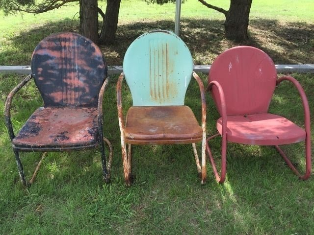 1000+ Ideas About Metal Lawn Chairs On Pinterest | Vintage