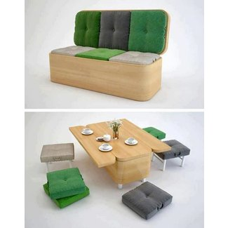15 Practical Space Saving Table and Chair Ideas - Small