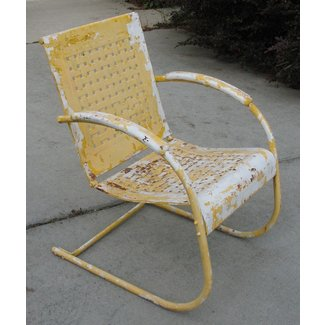 Vintage Metal Lawn Chairs Visual Hunt