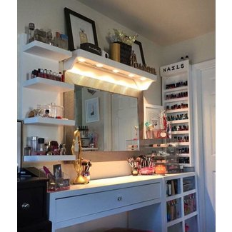17 Best ideas about Makeup Tables on Pinterest | Ikea