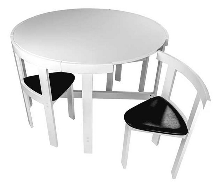 Folding dining table and chair Small Space 17 Furniture For Small Spaces Folding Dining Tables Visual Hunt Space Saving Table And Chairs Visual Hunt
