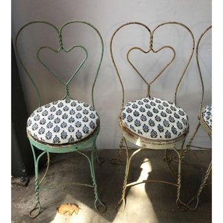 1950s Ice Cream Parlor Chairs - Pair | Chairish