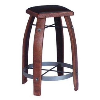 2 Day Designs Reclaimed 30 in. Stave Wine Barrel Bar