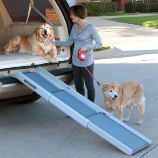 2-in-1 Folding Pet Ramp & Stairs For Dog Cat Portable
