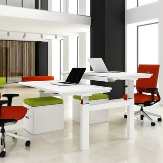 2 Person Desk: Simple Solving Problem for Small Office or