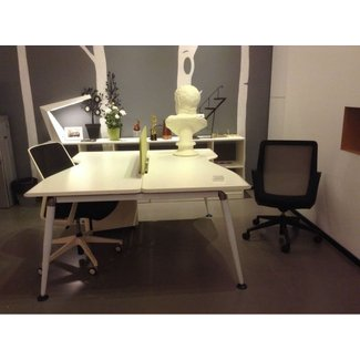 2 Person Office Desk/mdf Employee Office Furniture - Buy ...