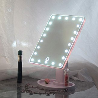 20 LED Lights Vanity Makeup Mirror Touch Screen Lighted ...