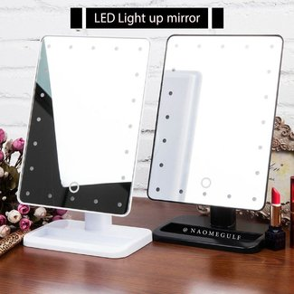 20 LEDs Lighted Make up Cosmetic Bathroom Mirror ...