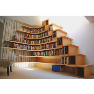 21 Amazing bookshelves in the staircase as a great idea