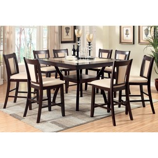 247SHOPATHOME Idf-3984PT-7PC Dining-Room, 7-piece Set, Dark Cherry