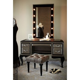 top office furniture cover images glass makeup home vanity desk ashley inside