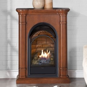 Fantastic Corner Ventless Gas Fireplace Visual Hunt Beutiful Home Inspiration Papxelindsey Bellcom