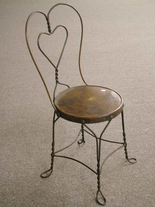 Delicieux 253: Vintage Ice Cream Parlor Chairs : Lot 253