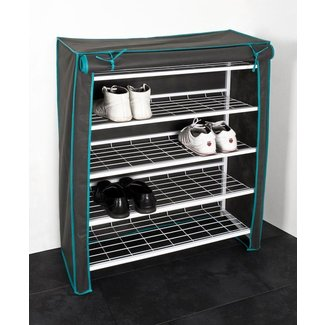 4 Tier Shoe Rack With Cover - Shoe Rack, Bench