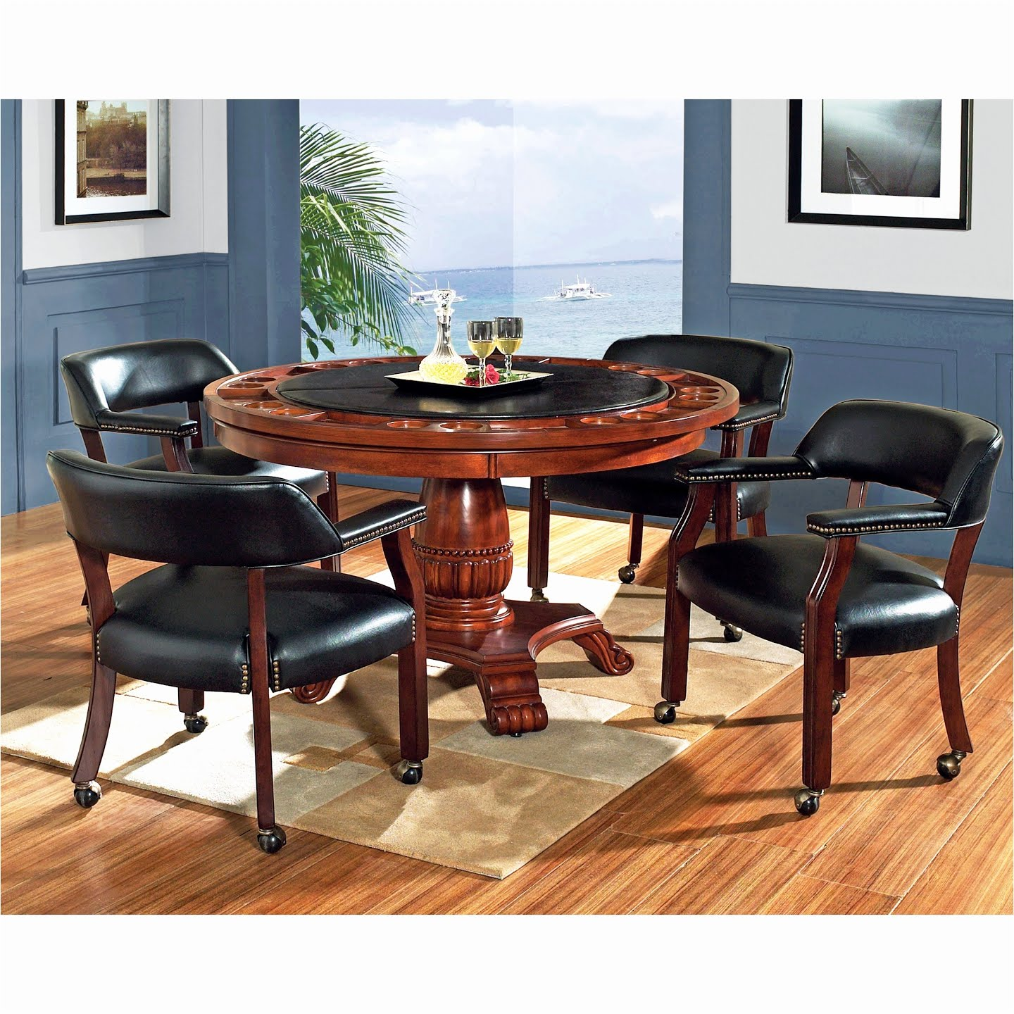 5 Piece Dinette Set With Caster Chairs Three Bedroom Condo