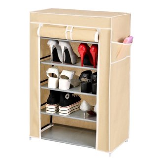 6 Layer 5 Grid Shoe Rack Shelf Storage Closet Organizer