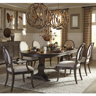 7-Piece Double Pedestal Dining Table Set by A.R.T