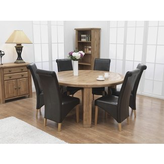 71 Round Dining Table Set For 6