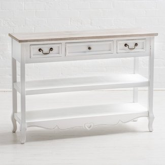 #7856 Highest Rated Shabby Chic White Console Table ...