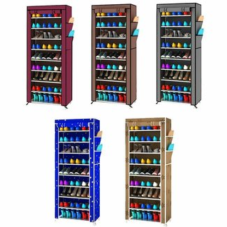 9 Layer Space Saving Shoe Closet Rack Shelf Storage ...