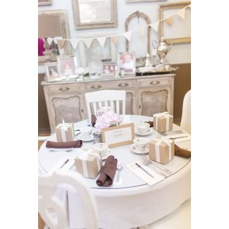 A Vintage Shabby Chic Tea Baby Shower table setting ...