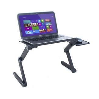 Adjustable Folding Laptop Stand with Mouse Tray, Portable