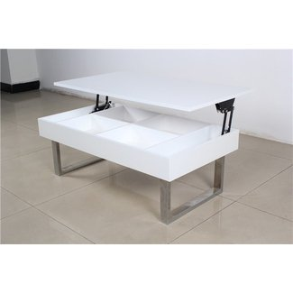 Adjustable Height Coffee Table Dining Table Industrial ...