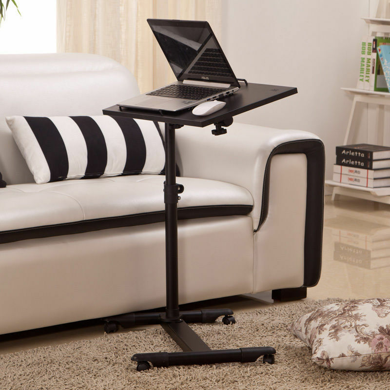 Adjustable Portable Table Desk Stand Sofa Bed Tray For .