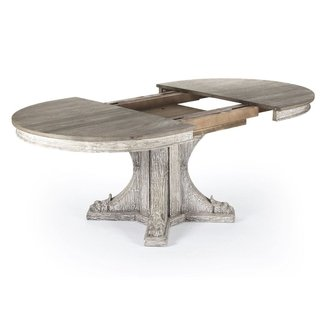 Agnes French Country Rustic Oval Extendable Dining Table ...