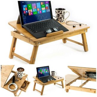 Aleratec Natural Bamboo Laptop Cooling Stand Up To 15in ...
