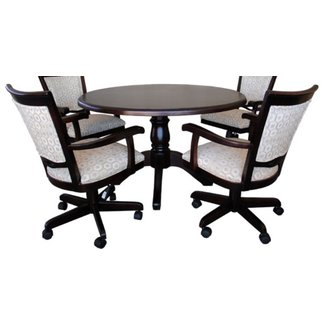 Alfa Dinettes - Tobias 400 Caster Chairs Round Table