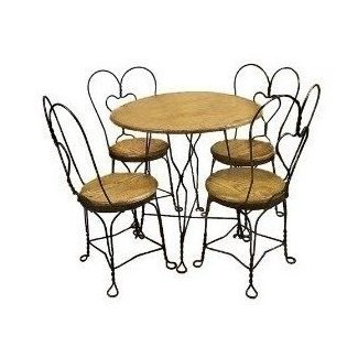 Ice Cream Parlor Table And Chairs Set Kitchen