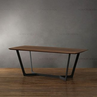 American country vintage wrought iron coffee table wood ...