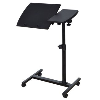 Angle Height Adjustable Rolling Laptop Notebook Desk Over ...