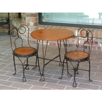antique bistro table and chairs - Antique Ice Cream Parlor
