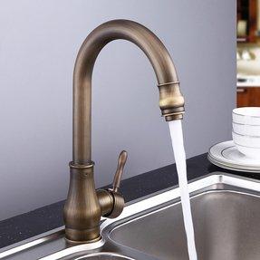 Antique Brass Kitchen Faucet - Visual Hunt