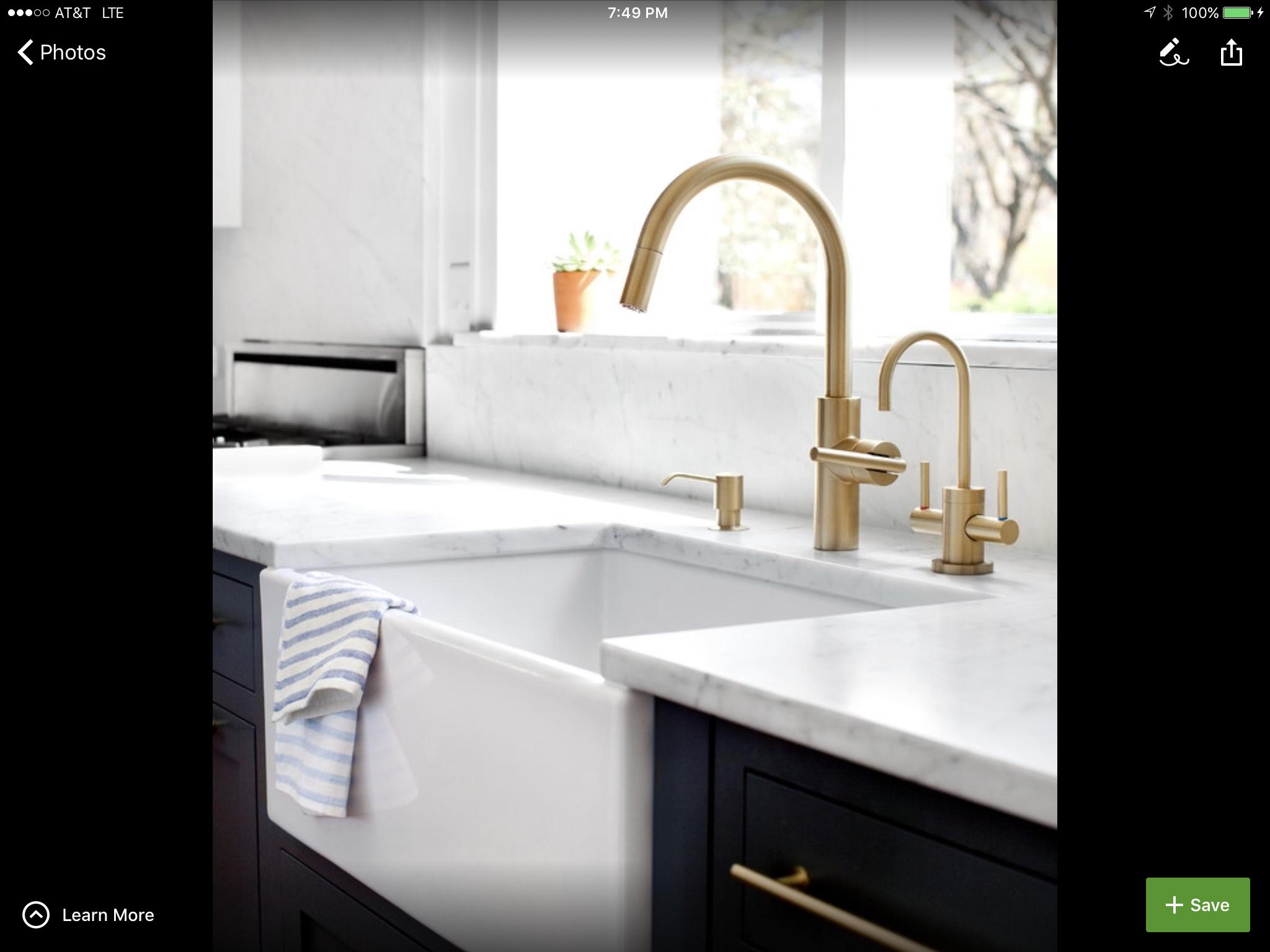 Antique Brass Vintage Kitchen Faucet With Farm Sink .