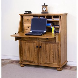Antique Drop Front Secretary Desk With Hutch | Home Design