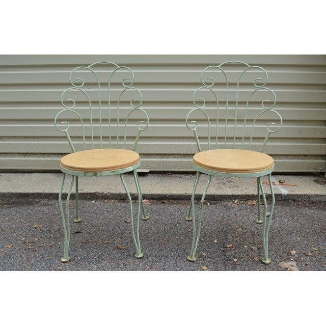 Antique Ice Cream Parlor Chairs | Chairish
