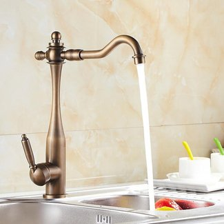 Antique Inspired Kitchen Faucet (Antique Brass Finish) At ...