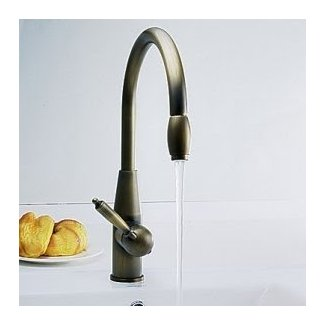 Antique inspired Pull Down Kitchen Faucet (Antique Brass ...