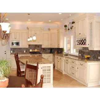 Antique White Kitchen Cabinets Design | kitchen cabinets ...