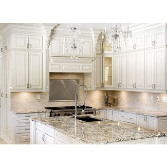 Antique White Kitchen Cabinets Improving Room Coziness ...