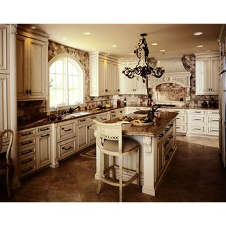 Antique white kitchen cabinets, photo | Kitchens designs ideas