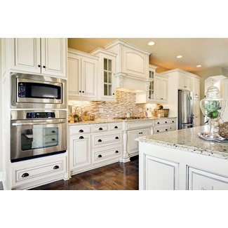 Antique White Kitchen Cabinets With Granite Countertops ...